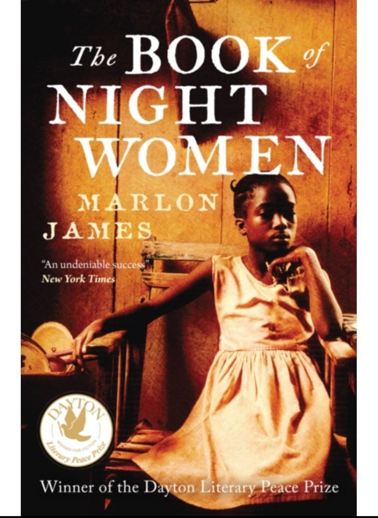 The sepia-toned book cover depicts a young Black woman seated in a wooden chair, wearing a plain sleeveless white cotton dress.