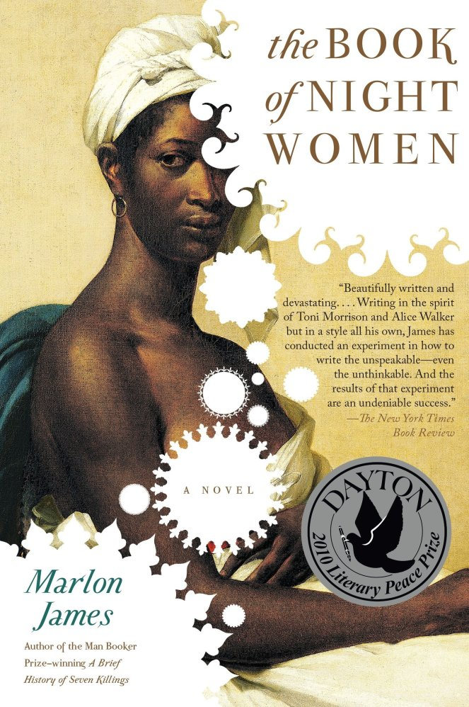The book cover depicts a Black woman wearing a white headscarf and a single earring. The style suggests a portrait from the 19th-century era of the novel's setting.