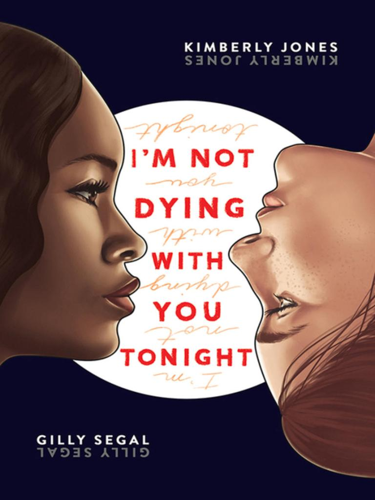 Black cover with faces of two young women, Black on left and White on right. Face on right is upside down. All text appears rightside up and upside down and mirrored.