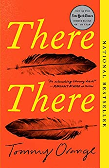 The book cover depicts two feathers facing in opposite directions, against a background of orange with the title in yellow lettering.