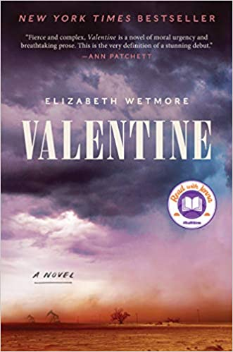 The book cover depicts a dust storm across a dry landscape of orange dirt,  with oil rigs and a solitary tree in the distance and purple stormclouds in the sky above.