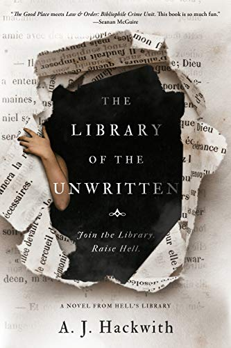 The book cover depicts someone tearing through the pages of a book as if through a curtain, with a dark abyss behind and a bare arm reaching from inside the book.