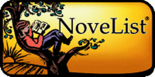NoveList icon with a person reading a book while sitting in a tree with a orange background.