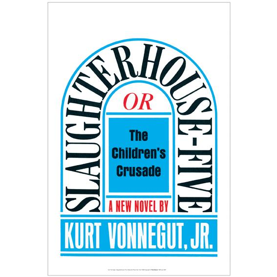 Slaughterhouse-Five arches in a tombstone shape above the subtitle, Or the Children's Crusade, and the author's name.