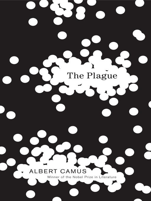 A stark black background is covered with scattered white dots, some of which merge to form larger spaces where the title and author's name appear.