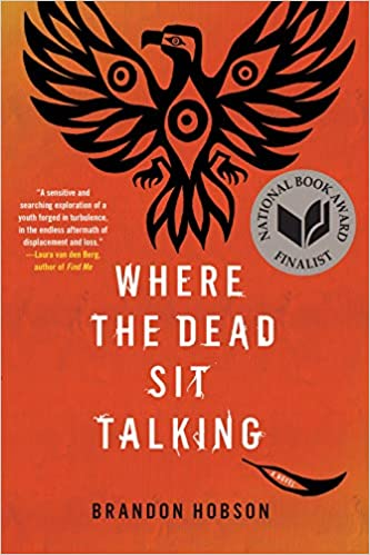The book cover depicts a stylized eagle in black silhouette with outstretched wings against an orange background, with a single feather fallen to the ground beneath.