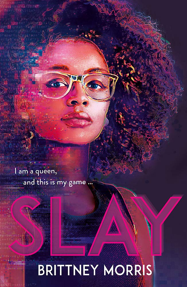 "A slightly pixelated picture of a young Black woman with long natural hair and glasses features the quote, ""I am a queen and this is my game."""
