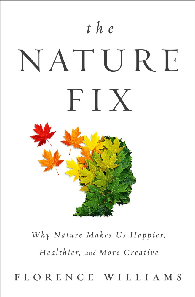 The book cover depicts the profile of a human covered in maple leaves, with some of the leaves trailing off into the air as if windblown. The colors range from shades of green to yellow. orange, and red.