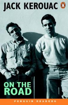 The book cover is a blank and white, bluish-tinted photograph of Jack Kerouac and fellow writer Neal Cassady.