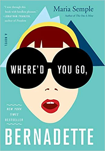 The book cover depicts Bernadette with short brown hair and a yellow headband, against a background of icy blue mountains and turquoise sky.