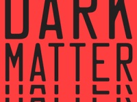 The book cover shows the lettering of the title and author's name in black lettering, overlapping themselves several times, against a red background.
