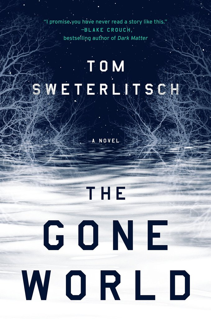 The book cover shows an icy landscape at night, with frozen trees and stars against a deep blue night sky.