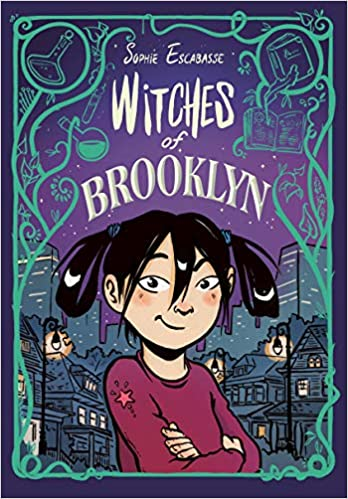 This image is of the cover of The Witches of Brooklyn with main character of Effie in the forefront. A cityscape is set behind her.